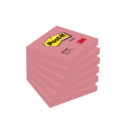 Haftnotizen Post-it Notes 76x76mm neonpink Papier 3M 654NPI (ST=100 BLATT) Produktbild