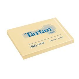 Haftnotizen Tartan Notes 102x76mm gelb Papier 3M 010276 (PACK=12x 100 BLATT) Produktbild