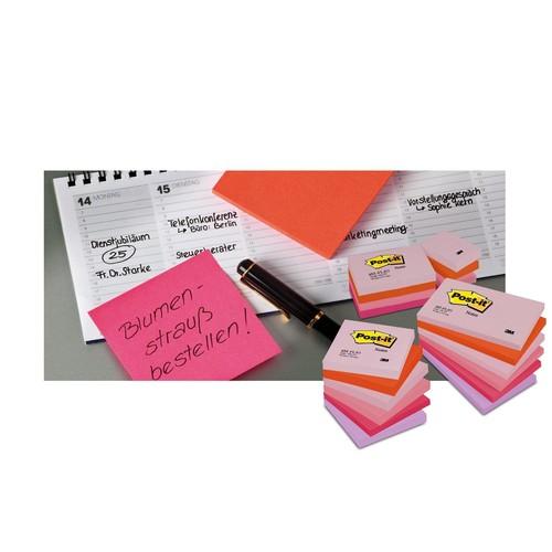 Haftnotizen Post-it Notes 76x76mm neonorange Papier 3M 654NOR (ST=100 BLATT) Produktbild Additional View 3 L