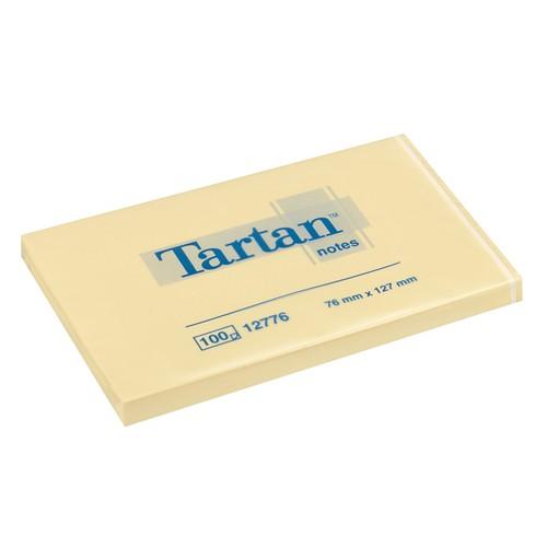 Haftnotizen Tartan Notes 76x127mm gelb Papier 3M 012776 (PACK=12x 100 BLATT) Produktbild Front View L
