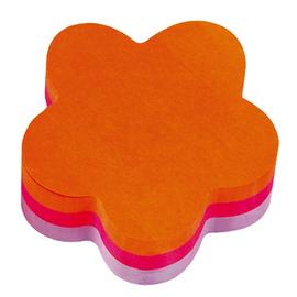 Haftnotizen Post-it Würfel Blume 70x70mm neonorange/pink/lila Papier 3M 2007F (ST=225 BLATT) Produktbild