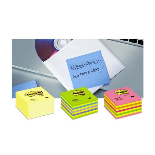 Haftnotizen Post-it Notes Würfel 76x76mm gelb Papier 3M 5426GB (ST=450 BLATT) Produktbild Additional View 2 L