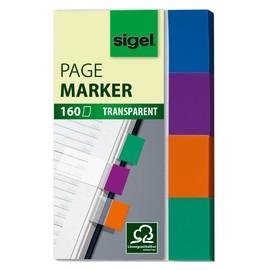 Haftmarker Pergament 50x20mm 4 Farben Papier Sigel HN671 (PACK=4x 40 STÜCK) Produktbild