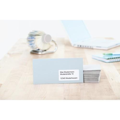 Etiketten PREMIUM Inkjet+Laser+Kopier 96,5x42,3mm auf A4 Bögen weiß permanent Herma 5056 (PACK=300 STÜCK) Produktbild Additional View 3 L
