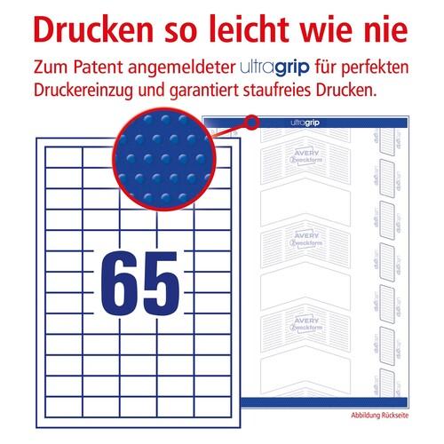 Etiketten Inkjet+Laser+Kopier 38x21,2mm auf A4 Bögen weiß Zweckform 3666 (PACK=6500 STÜCK) Produktbild Additional View 3 L