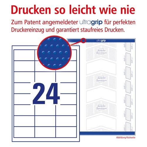 Etiketten Inkjet+Laser+Kopier 64,4x33,8mm auf A4 Bögen weiß Zweckform 3658 (PACK=2400 STÜCK) Produktbild Additional View 3 L