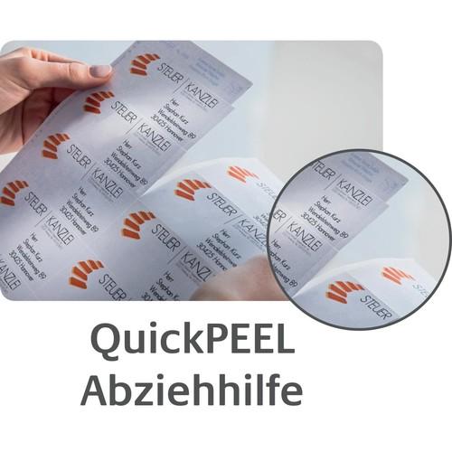 Etiketten Inkjet+Laser+Kopier 64,4x33,8mm auf A4 Bögen weiß Zweckform 3658 (PACK=2400 STÜCK) Produktbild Additional View 8 L