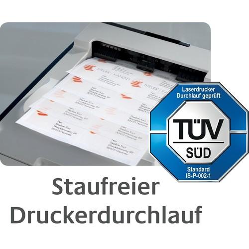 Etiketten Inkjet+Laser+Kopier 64,4x33,8mm auf A4 Bögen weiß Zweckform 3658 (PACK=2400 STÜCK) Produktbild Additional View 9 L