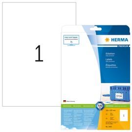 Etiketten PREMIUM Inkjet+Laser+Kopier 210x297mm A4 weiß permanent Herma 5065 (PACK=25 STÜCK) Produktbild
