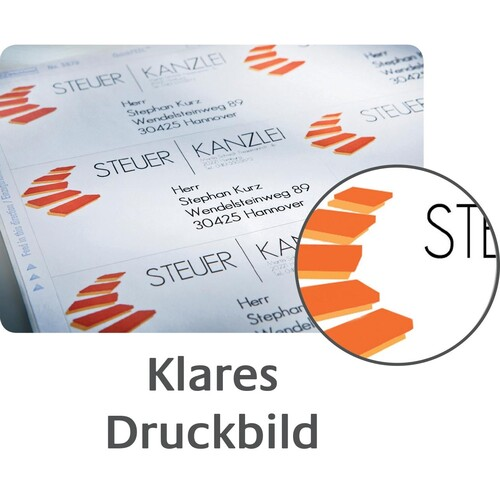 Etiketten Inkjet+Laser+Kopier 70x25,4mm auf A4 Bögen weiß Zweckform 3421 (PACK=3300 STÜCK) Produktbild Additional View 5 L