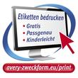 Etiketten Inkjet+Laser+Kopier 70x25,4mm auf A4 Bögen weiß Zweckform 3421 (PACK=3300 STÜCK) Produktbild Back View S