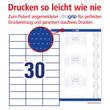 Etiketten Inkjet+Laser+Kopier 70x29,7mm auf A4 Bögen weiß Zweckform 3489 (PACK=3000 STÜCK) Produktbild Additional View 3 S