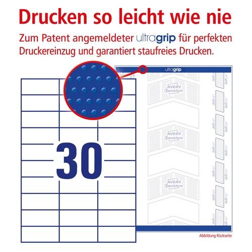 Etiketten Inkjet+Laser+Kopier 70x29,7mm auf A4 Bögen weiß Zweckform 3489 (PACK=3000 STÜCK) Produktbild Additional View 3 L