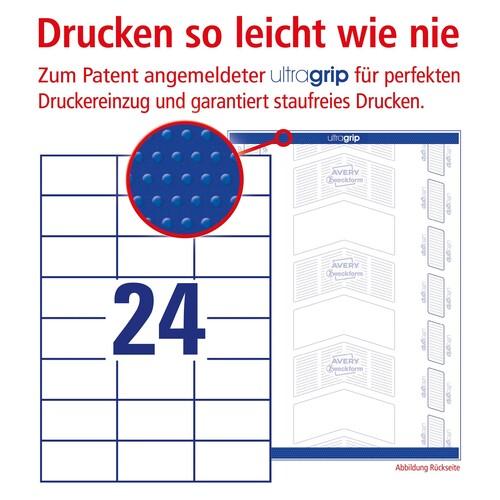 Etiketten Inkjet+Laser+Kopier 70x37mm auf A4 Bögen weiß Zweckform 3474 (PACK=2400 STÜCK) Produktbild Additional View 3 L