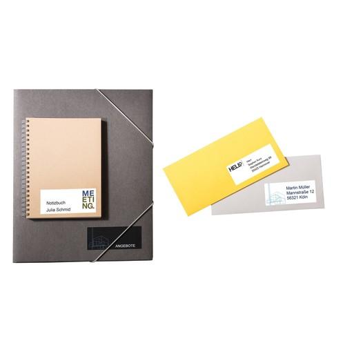 Etiketten Inkjet+Laser+Kopier 70x67,7mm auf A4 Bögen weiß Zweckform 3661 (PACK=1200 STÜCK) Produktbild Additional View 5 L