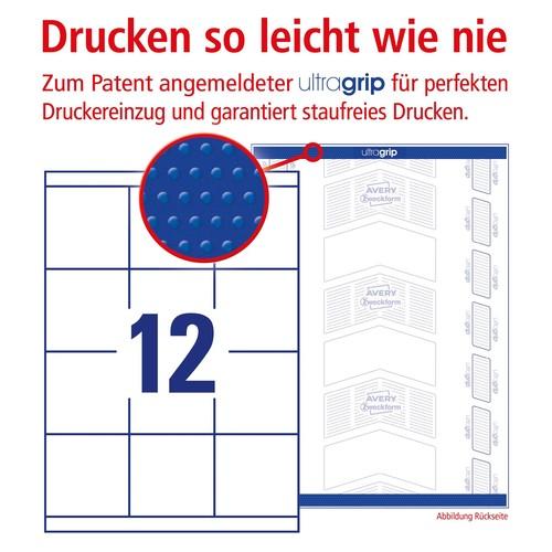 Etiketten Inkjet+Laser+Kopier 70x67,7mm auf A4 Bögen weiß Zweckform 3661 (PACK=1200 STÜCK) Produktbild Additional View 3 L