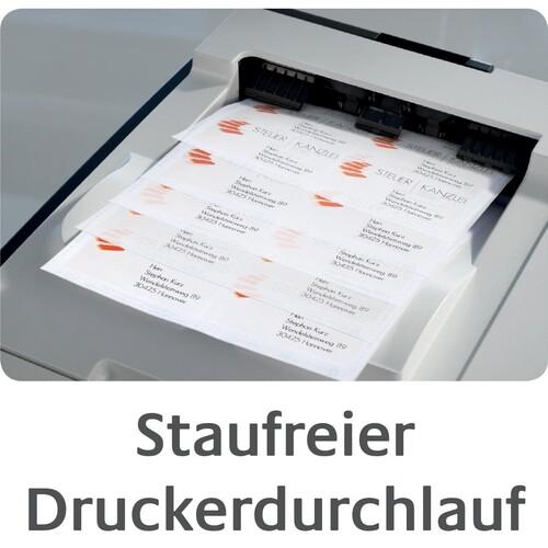 Adress-Etiketten Inkjet 99,1x42,3mm auf A4 Bögen weiß schnelltrocknend Zweckform J8177-25 (PACK=300 STÜCK) Produktbild Additional View 7 L