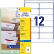 Adress-Etiketten Inkjet 99,1x42,3mm auf A4 Bögen weiß schnelltrocknend Zweckform J8177-25 (PACK=300 STÜCK) Produktbild
