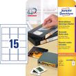 Disketten-Etiketten Inkjet+Laser+Kopier 59x50mm auf A4 Bögen weiß wiederablösbar Zweckform L4747REV-25 (PACK=375 STÜCK) Produktbild