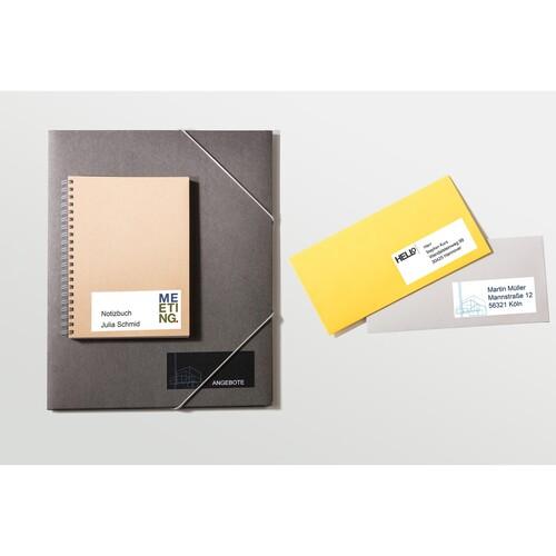 Etiketten Inkjet+Laser+Kopier 105x33,8mm auf A4 Bögen weiß Zweckform 3665 (PACK=1600 STÜCK) Produktbild Additional View 4 L