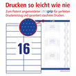 Etiketten Inkjet+Laser+Kopier 105x33,8mm auf A4 Bögen weiß Zweckform 3665 (PACK=1600 STÜCK) Produktbild Additional View 3 S