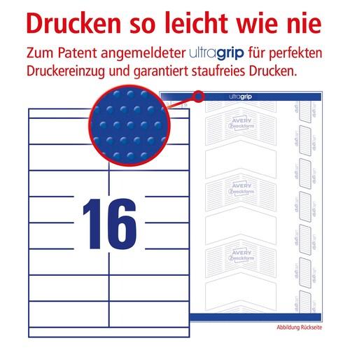 Etiketten Inkjet+Laser+Kopier 105x33,8mm auf A4 Bögen weiß Zweckform 3665 (PACK=1600 STÜCK) Produktbild Additional View 3 L