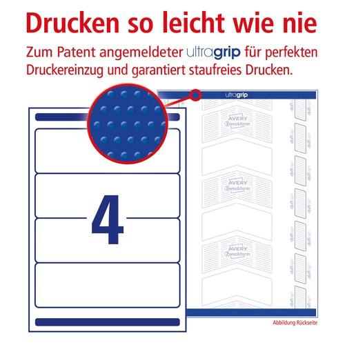 Rückenschilder zum Bedrucken 61x192mm kurz breit auf A4 Bögen weiß selbstklebend Zweckform L4761-100 (PACK=400 STÜCK) Produktbild Additional View 3 L