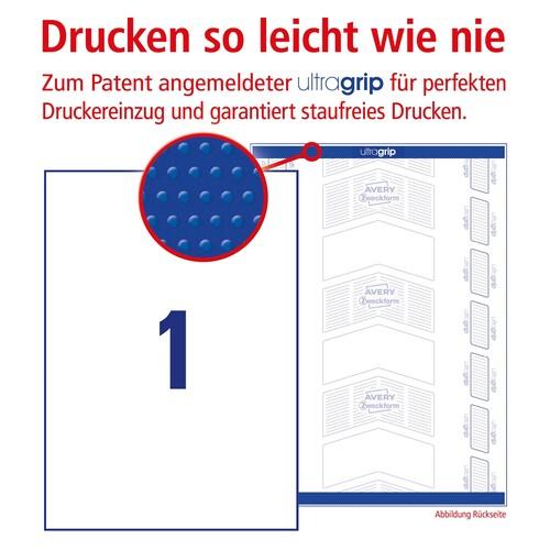 Etiketten Inkjet+Laser+Kopier 210x297mm auf A4 Bögen weiß Zweckform 3478 (PACK=100 STÜCK) Produktbild Additional View 3 L