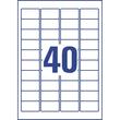 Adress-Etiketten Laser+Kopier 48,5x25,4mm auf A4 Bögen transparent Zweckform L4770-25 (PACK=1000 STÜCK) Produktbild Additional View 2 S