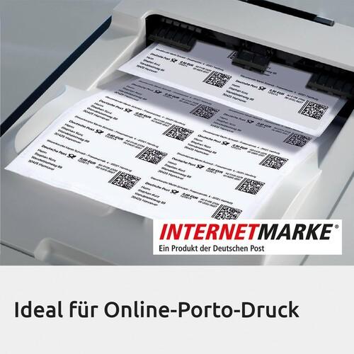 Adress-Etiketten Laser+Kopier 99,1x42,3mm auf A4 Bögen transparent Zweckform L4772-25 (PACK=300 STÜCK) Produktbild Additional View 4 L