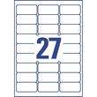 Adress-Etiketten Inkjet 63,5x29,6mm auf A4 Bögen transparent Zweckform J4721-25 (PACK=675 STÜCK) Produktbild Additional View 2 S