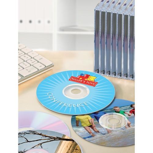 CD-Etiketten Inkjet+Laser+Kopier 117mm ø auf A4 Bögen weiß Zweckform L6043-25 (PACK=50 STÜCK) Produktbild Additional View 4 L