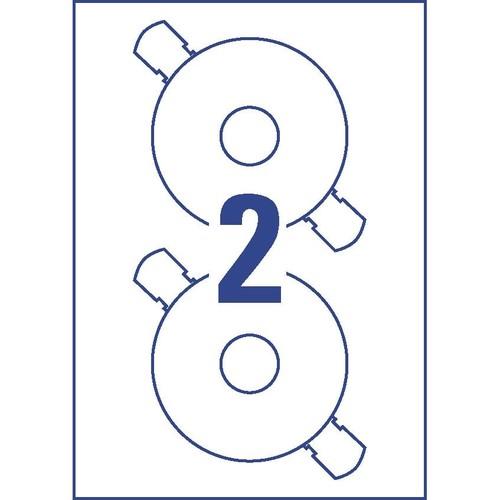 CD-Etiketten Inkjet+Laser+Kopier 117mm ø auf A4 Bögen weiß Zweckform L6043-25 (PACK=50 STÜCK) Produktbild Additional View 2 L
