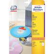 CD-Etiketten Inkjet+Laser+Kopier 117mm ø auf A4 Bögen weiß Zweckform L6043-25 (PACK=50 STÜCK) Produktbild Additional View 1 S