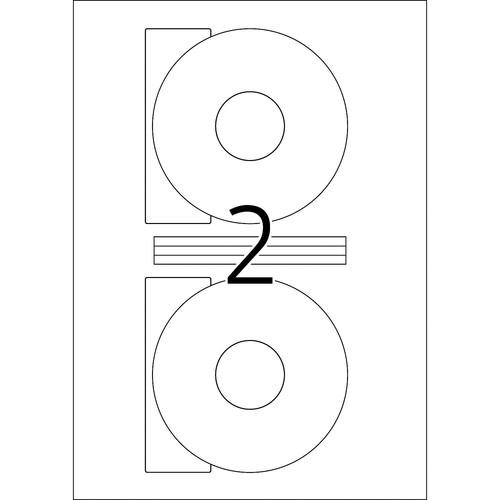 CD-Etiketten Inkjet+Laser+Kopier ø116mm auf A4 Bögen weiß matt blickdicht permanent Herma 5079 (PACK=50 STÜCK) Produktbild Additional View 2 L