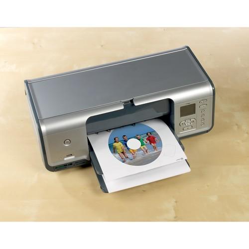 CD-Etiketten Inkjet+Laser+Kopier 117mm ø auf A4 Bögen weiß Zweckform L6043-100 (PACK=200 STÜCK) Produktbild Additional View 8 L