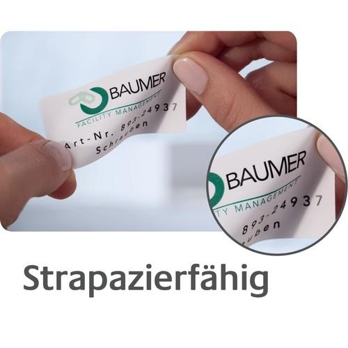 Typenschild-Etiketten Laser+Kopier 63,5x29,6mm auf A4 Bögen silber Polyester Zweckform L6011-20 (PACK=540 STÜCK) Produktbild Additional View 4 L