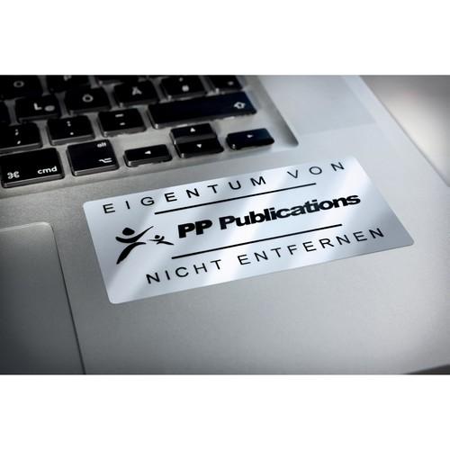 Typenschild-Etiketten Laser+Kopier 63,5x29,6mm auf A4 Bögen silber Polyester Zweckform L6011-20 (PACK=540 STÜCK) Produktbild Additional View 8 L