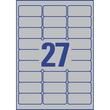 Typenschild-Etiketten Laser+Kopier 63,5x29,6mm auf A4 Bögen silber Polyester Zweckform L6011-20 (PACK=540 STÜCK) Produktbild Additional View 2 S