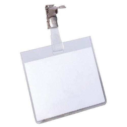 Namensschild mit Clip 60x90mm Durable 8003-19 (PACK=25 STÜCK) Produktbild Front View L