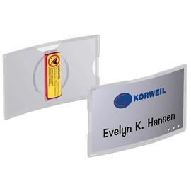 Namensschild KONVEX ACRYL mit Magnet 40x75mm Durable 8123-19 (PACK=25 STÜCK) Produktbild