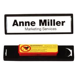 Namensschild CLIP CARD mit Magnet 17x67mm schwarzer Rahmen Durable 8132-01 (PACK=25 STÜCK) Produktbild