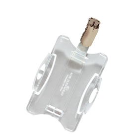 Ausweishalter mit Clip 54x85mm für Betriebsausweise transparent Durable 8118-19 (PACK=25 STÜCK) Produktbild