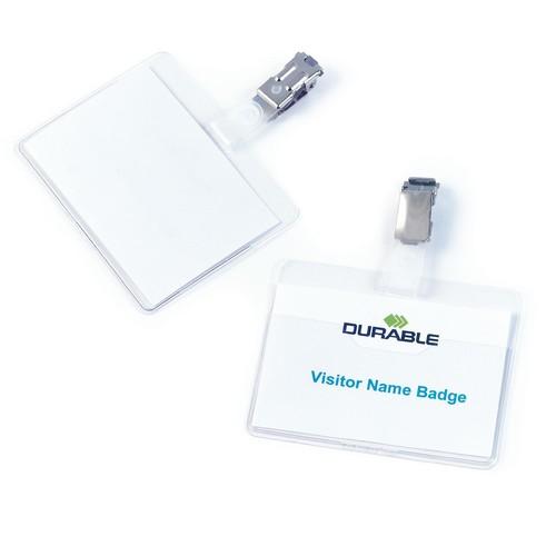 Namensschild mit Clip 60x90mm vorne offen Querformat 8106-19 Durable (PACK=25 STÜCK) Produktbild Additional View 1 L