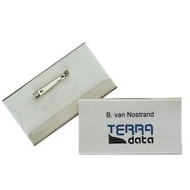 Namensschild mit Nadel + Einstecklasche 40x75mm Durable 8601-19 (PACK=5 STÜCK) Produktbild