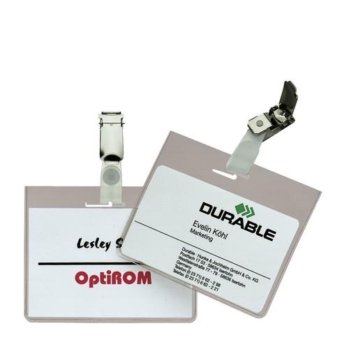 Namensschild mit Clip 60x90mm Durable 8603-19 (PACK=5 STÜCK) Produktbild
