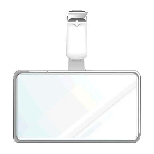 Ausweis-Hartbox mit Clip für Betriebsausweise 86x54mm ID 200130 Produktbild Front View L