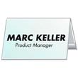 Tischnamensschild Dachform 52x100mm transparent Hartfolie Durable 8051-19 Produktbild Additional View 1 S