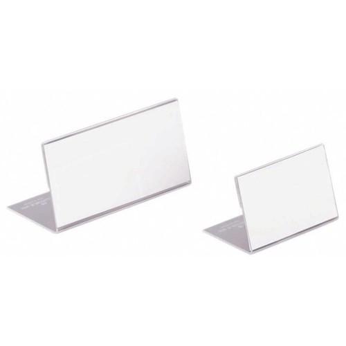 Tischnamensschild L-Form 52x100mm transparent Acryl Durable 8055-19 Produktbild Front View L