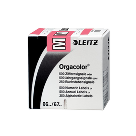 Buchstabensignale M Orgacolor auf Rolle 30x23mm rosa selbstklebend Leitz 6622-10-00 (SCH=250 STÜCK) Produktbild